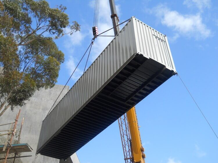 Crane Lifting A Container   Container Rental & Sales 012